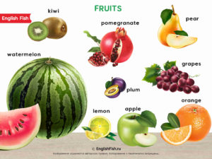фрукты на английском для детей