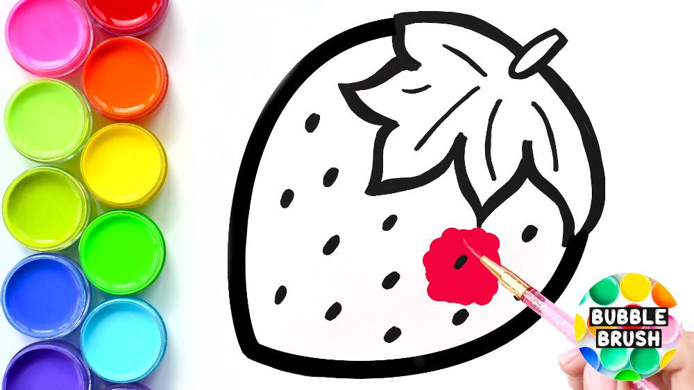Рисование для детей клубника