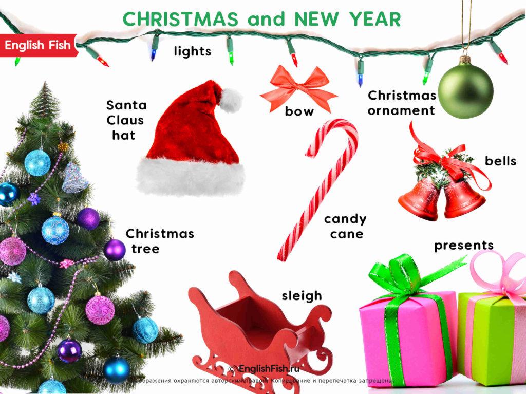 Новый Год на английском для детей